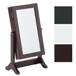 CLP Tisch Kosmetik-Spiegel, Schmuckschrank GINA, neigbar, Landhaus-Stil wenge -