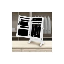 Gartengarnitur-Standspiegel mit Schmuckschrank, Weiß -