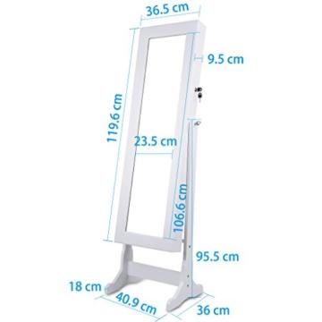 LANGRIA Schmuckschrank Spiegelschrank Schmuckregal Winkel Einstellbar Schmuckkasten (Type 1) -