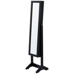Levivo Schmuckschrank mit Spiegel, schwarz -