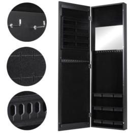 Miadomodo Schmuckschrank Hängeschrank Wandspiegel Spiegelschrank hängend- ca. 120 x 36 x 9,5 cm- schwarz oder weiss -