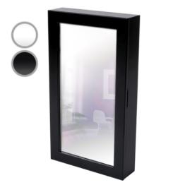 Miadomodo Schmuckschrank Spiegelschrank Wandspiegel Schmuckkasten 56x31x10 cm zum Hängen, Magnetverschluss - in schwarz oder weiss -