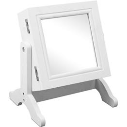 Schmuckschrank mit Spiegel Schmuckkasten Schmuckkästchen Schmuckkommode Schmuck Weiß -