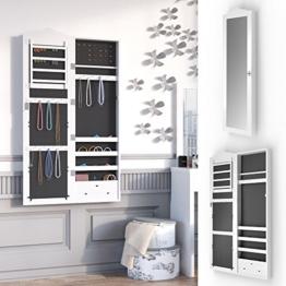 Schmuckschrank Spiegelschrank abschließbar Hängeschrank Schmuckkasten Wandspiegel Wandmontage Louanne -