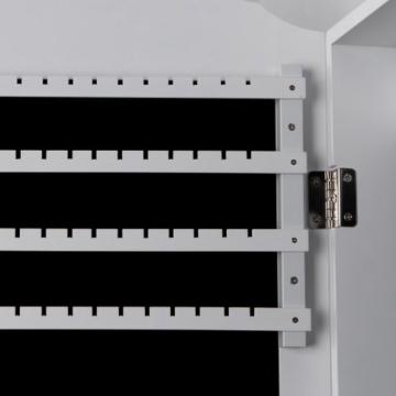 Songmics Schmuckschrank Wandspiegel mit Magnetverschluss JBC83W -